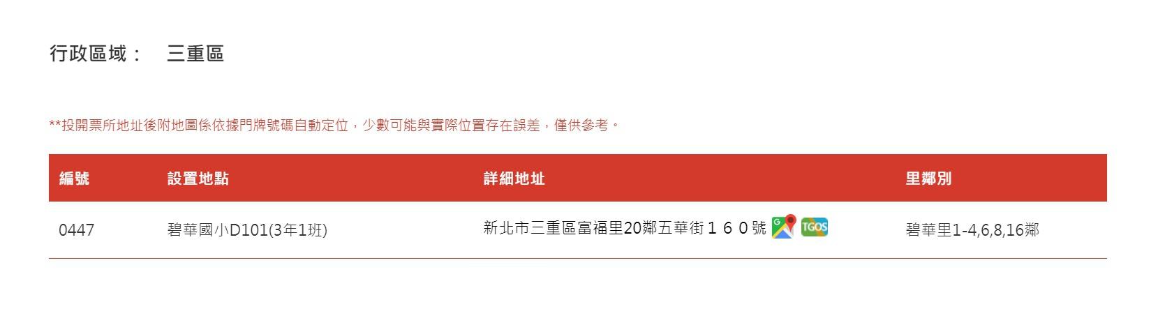 中選會網站