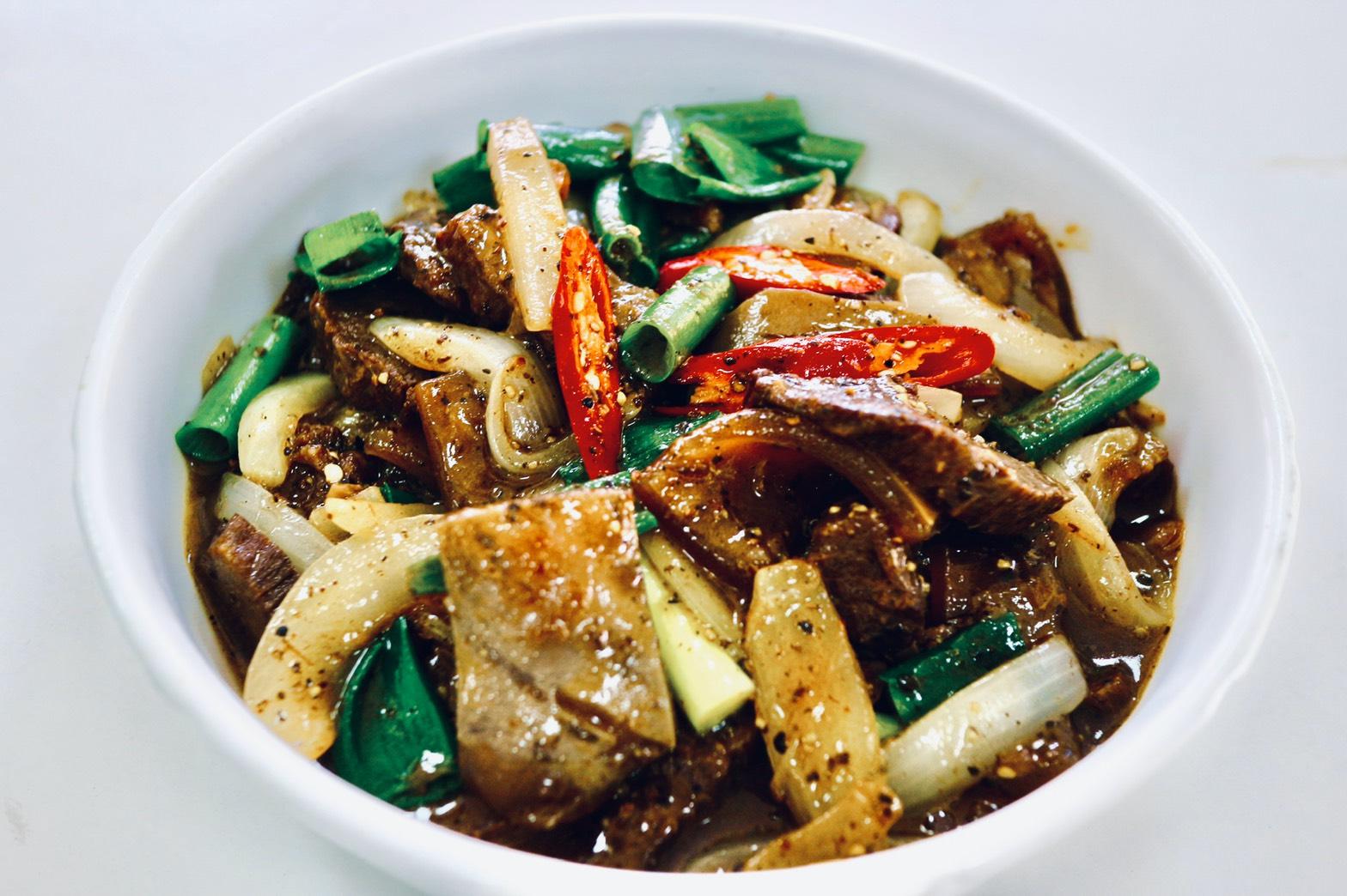 黑胡椒台灣黃牛皮