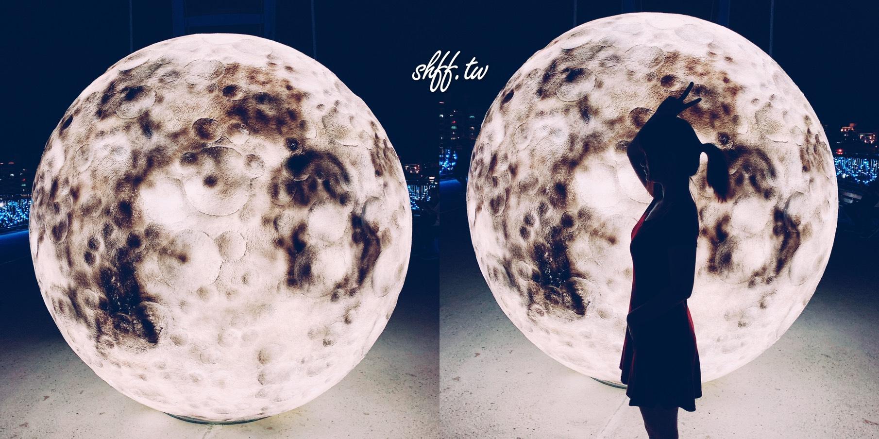 打卡了嗎?超美月亮在新莊!新月橋上的浪漫地球,IG必拍剪影照。
